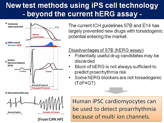 図1:New test methods using iPS cell technology - beyond the current hERG assay -